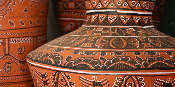 Handpainted Terracotta works, Gujarat, India
