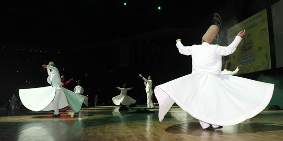 Sema ceremony by the Mevlevi Dervishes (Whirling Dervishes), Konya, Turkey