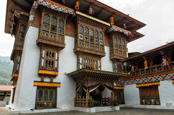 Punakha Dzong or Pungthang Dewachen Phodrang (Palace of Great Happiness), Punakha, old capital of Bhutan