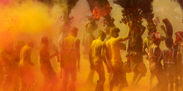 Rangwali Holi, carnival of colours, Gujarat, India