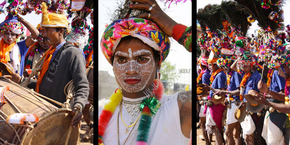Rathva Tribal Men at the Rathva Festival in Kavant, Gujarat, India