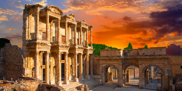 Ancient Roman Celsus Library, Ephesus, Turkey