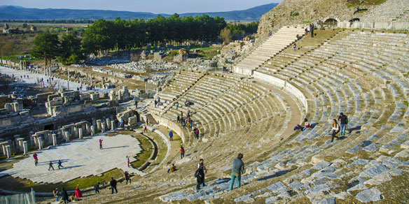 Roman amphitheatre in Ephesus, Turkey