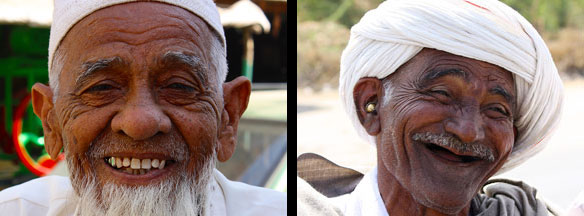 Portraits of two men, Gujarat, India