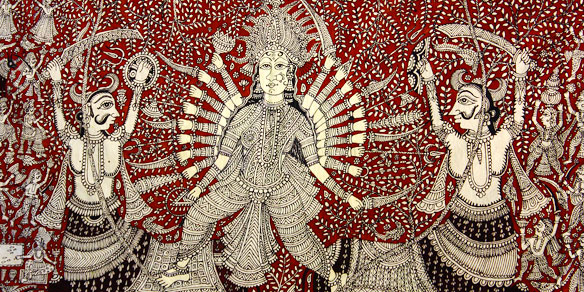 Beautiful handpainted textile, Gujarat, India