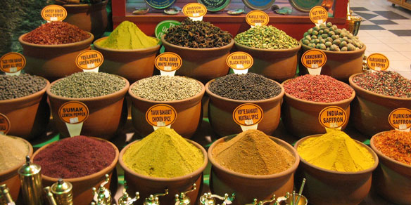 Oriental spices, Great Bazaar, Istanbul, Turkey