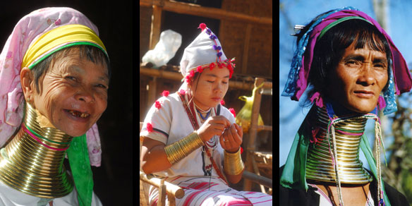 Padaung long neck women, hilltribe, Northern Thailand