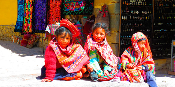 Indigenous children, Peru, Andes, South America